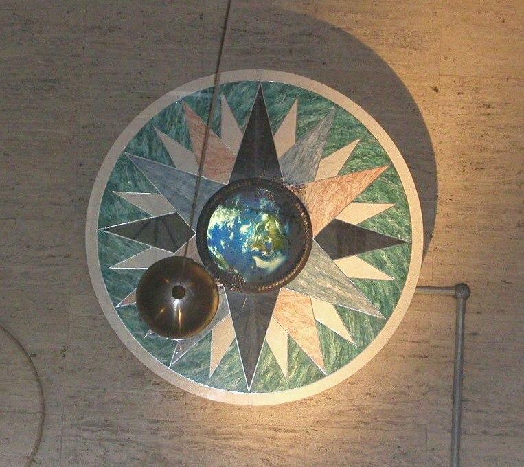 Foucault pendulum in the Franklin Institute