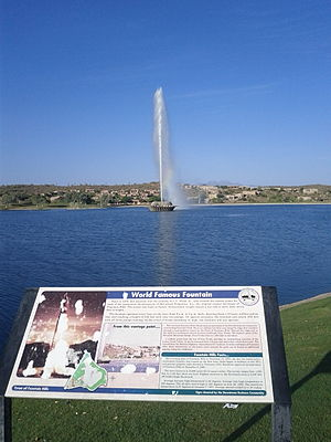 Fountain Hills, Arizona - Fountain Hills Fountain Informative Plaque