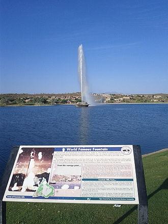 Fountain Hills, Arizona - Fountain Hills Fountain Informative Plaque
