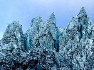 Serac Hazardous ice formation
