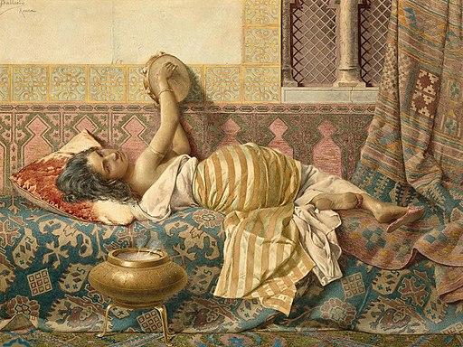 Francesco Ballesio - одалиска, отдых
