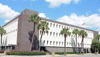 Brunswick, Georgia - Frank Scarlett Federal Building (Post Office and Federal Court), on the National Register of Historic Places