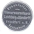 Frankfurt-Bockenheim Glimmerwaarenfabrik Landsberg & Ollendorff Prägemarke01.jpg