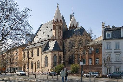Frankfurt Am Main-Leonhardskirche-Ansicht vom Mainkai-Gegenwart