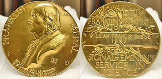 William Francis Gibbs - Gibbs' Franklin Medal in the collection at The Mariners Museum