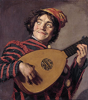 <i>The Lute Player</i> (Hals) painting by Frans Hals