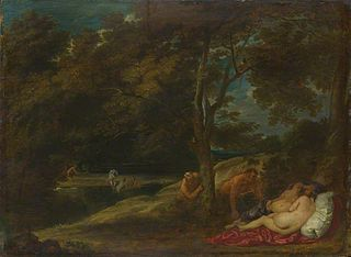 Nymphs surprised by Satyrs