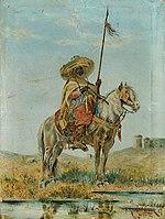 Franz Josef Georg Illem - Mexikaner zu Pferd - 7209 - Österreichische Galerie Belvedere.jpg