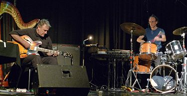 Fred Frith (left) and Chris Cutler performing in Austria in November 2009. FredFrith & ChrisCutler Nov2009.jpg