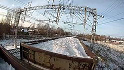File:Freight train hopping on gondola car and forest car in Saint Petersburg.webm