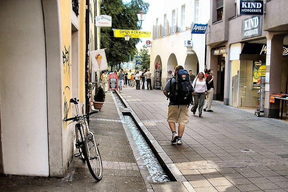 Friburgo Ruscelli nel Centro -- Freiburg with the city center streams