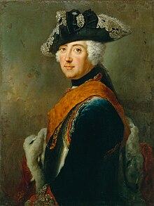 Portrettmaleri av en ung Frederik den Store
