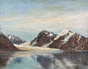 Glacier in Magdalena Bay, Spitsbergen