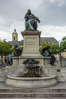 Rückert Denkmal (monument) in Schweinfurt in 2014. (Source: Wikimedia)