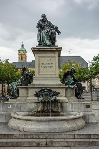 Friedrich Rückert - Rückert Denkmal (monument) in Schweinfurt in 2014.