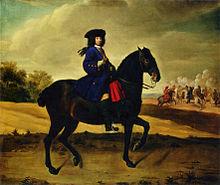 Friedrich Wilhelm auf einem Schlobittener Pferd, 1706 (Quelle: Wikimedia)