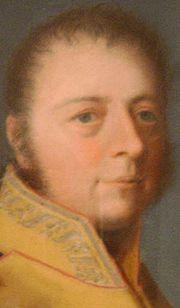 Herzog Friedrich von Sachsen-Hildburghausen, Ausschnitt aus einem Pastellgemälde von Johann Philipp Bach (Quelle: Wikimedia)
