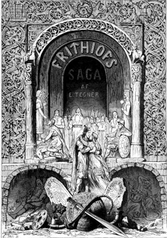 Esaias Tegnér - Title page of Frithiofs Saga (1876)
