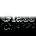 GLASS as a glass imitation with reflection (GIMP 2.8).png