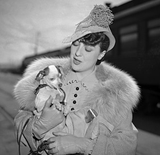 Eugénie hat - The 'Eugénie influence' could be seen for the following decade in millinery  – especially in the angling of hats. This 1937 model was worn by Gypsy Rose Lee.