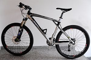 Hardtail cross country mountain bike with carb...