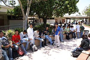 Gahr High School - On campus in June 2007