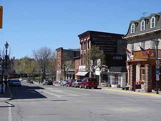 Gananoque Town in Ontario, Canada