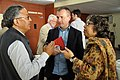 Ganga Singh Rautela - Jim Hollington - Sujata Sen - Tea Break Discussion - Collections and Storage Management Workshop - NCSM - Kolkata 2016-02-18 9689.JPG