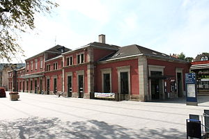 Gare de Saverne - Travellers building and entrance of the station