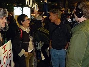 Political positions of Gary Johnson - Governor Johnson visits Occupy-Protesters in Zuccotti Park, October 18, 2011