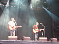 Gary Lightbody and Nathan Connolly at Pukkelpop 2006.jpg