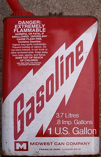 Gasoline - A gas can