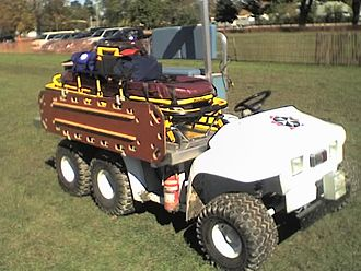 John Deere Gator - A John Deere Gator converted into an off-road ambulance:  This vehicle is owned by Toronto District St. John Ambulance.