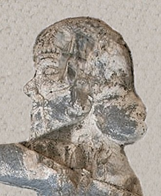 "Darius the Great - Portrait of Achaemenid King Bardiya, or ""Gaumata"", from the reliefs at Behistun (detail)."