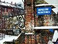 Gdańsk - mur przez który przeskoczył Wałęsa.JPG
