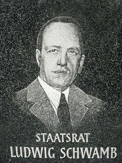 Ludwig Schwamb German politician