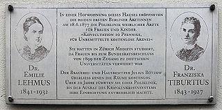 Franziska Tiburtius German doctor
