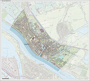 Maassluis - Dutch Topographic map of Maassluis, June 2015