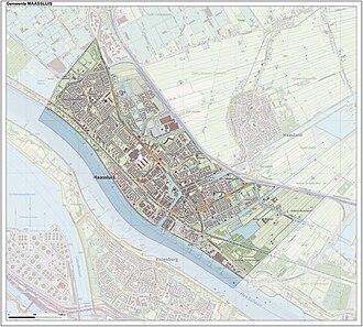 Maassluis - Dutch Topographic map of Maassluis, June 2015