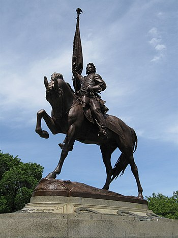 English: General John A. Logan statue at Grant...