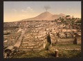 General view and Vesuvius, Pompeii, Italy-LCCN2001700924.tif