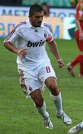 Gennaro Gattuso nel 2007 al Milan