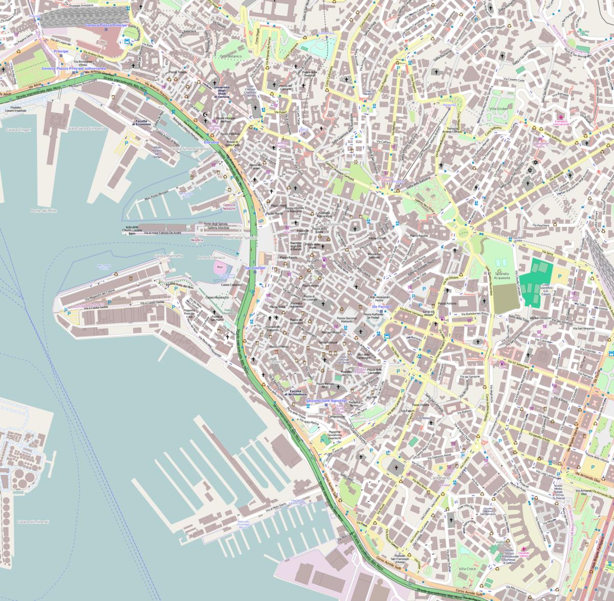 Centro Storico Cartina Geografica Roma.Centro Storico Di Genova Wikipedia