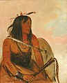 George Catlin - Ish-a-ró-yeh, He Who Carries a Wolf, a Distinguished Brave - 1985.66.48 - Smithsonian American Art Museum.jpg