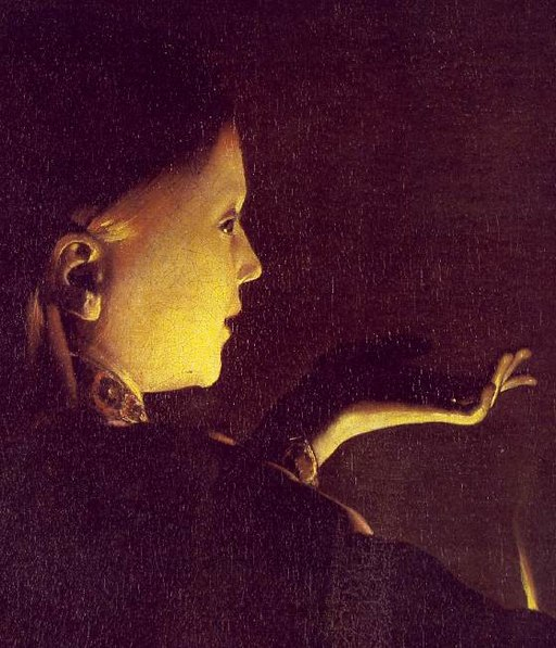 Georges de La Tour - The Dream of St Joseph (detail) - WGA12345