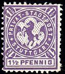 Germany Stuttgart 1890-99 local stamp 1.5pf - 11a unused.jpg