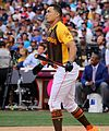 Giancarlo Stanton competes in semis of '16 T-Mobile -HRDerby. (28496635101).jpg
