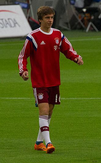 Gianluca Gaudino - Gaudino with Bayern Munich in 2014