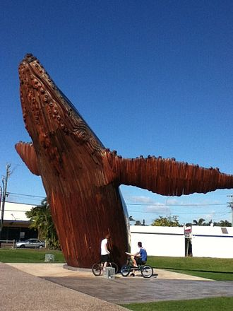 Fraser Coast Region - Giant whale sculpture at Hervey Bay