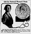 Gift for National Woman's Party (Leila Usher's bas-relief of Susan B. Anthony).jpg